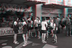 Sydney, Australia (DDDavid Hazan) Tags: sydney nsw australia anaglyph 3d bw blackandwhite bwanaglyph 3danglyph 3dstereophotography redcyan redcyan3d stereophotography stereo3d lunapark sydneyharbour students uniform arcade