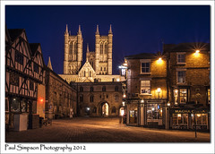 Lincoln Cathedral at Dusk (Paul Simpson Photography) Tags: lincoln cathedral city magnacarta lincolnshire bluehour dusk nighttime paulsimpsonphotography urbanphotography imagesof imageof photosof photoof religion evening photosoflincoln february2012 sonya100 nightphotography cityscapes cityscape history historiccity england eastmidlands wow