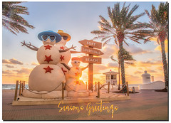 Seasons Greeting from Ft. Lauderdale (jeannie'spix) Tags: flickerchristmas christmascard fortlauderdale seasonsgreetings flickerpost snowman ftlauderdale