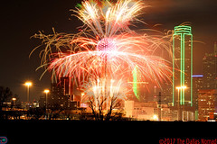 New Beginning -- Dallas New Year 2016 (2) (The Dallas Nomad) Tags: downtown dallas texas dfw city urban new year day fireworks night reunion tower outdoor 2017 building bank america
