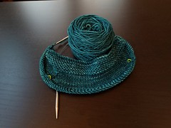 New on the needles: Brave Diana (pattern: Clementina by Lisa Chemery). I LOVE the #malabrigo #malabrigorios colorway #tealfeather, and it made me think of Merida's dress, hence the name (since it will be worn by another girl with crazy curly red hair!). # (flashlightfish) Tags: frogginette addifriends mryarn superwash yarn malabrigo sweater tealfeather cardigan ravelry malabrigorios wool