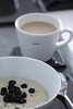 What I Ate for Breakfast (haberlea) Tags: home athome bowl coffee hot table kitchen stilllife white grey porridge blueberries food breakfast