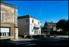 161022-1090-XM1.jpg (hopeless128) Tags: france sky eurotrip 2016 shadows buildings zebracrossing champagnemouton nouvelleaquitaine fr