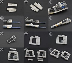 T-65 X-wing: V2 (instructions  Page 3) (Inthert) Tags: lego t65 fighter sfoils x wing starfighter moc ship star wars rebel rogue one squadron income red5 r2d2 luke skywalker instructions breakdown astromech blue