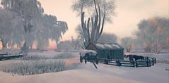Landscape dreaming (Wendy Lipovsek) Tags: second life secondlife sl winter cold snow winterscene horses dawn frisland