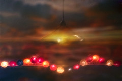 (Nick Landells) Tags: lamp lights coloured string sunset abstract