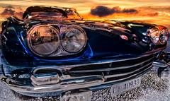 This car is a dream (hanspartes) Tags: auto car alfaromeo technikmuseumsinsheim oldtimer blue beauty blau sonnenuntergang sunset