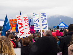 Women's March on Washington - Vancouver, Canada (Sally T. Buck) Tags: marchonwashington whyimarch vancouverwomensmarch womensmarch womens wmwyvr march women solidarity vancouver british columbia canada washington january 21 2017 global event assembly peaceful allies share values inclusion acceptance opposition racism misogyny transphobia homophobia xenophobia indigenous native aboriginal oppression rights human sign protest street activist activism potus president united states donald trump fight equality diversity hate nasty pussy love future feminist patriarchy resistance voice sally buck nastywoman hat pussyhat satan federation labour labor