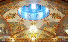 Des Plaines, 2017 (gregorywass) Tags: church dome russian orthodox interior january 2017 des plaines illinois iconography