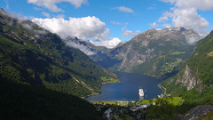 Geiranger (maddalena.colombo) Tags: fjord norway geiranger landscape geirangerfjord clouds cruise