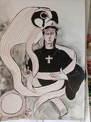 Crowley (alecsanderfelix) Tags: crowley aleister ink drawing thelema occult ch