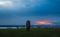 Tuilyies Megalith (john&mairi) Tags: standing stones megalith bronzeage tuilyies torryburn dunfermline fife scotland weathering cupringmarks sunset firthofforth sea estuary grangemouth oilrefinery