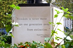 Freedom .... - DSCF8664a (normko) Tags: london grosvenor square us american embassy quote freedom ronald reagan