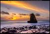 First Sunset (Praveen's PRotography) Tags: happy new year 2017 davenport beach santa cruz sanfrancisco half moon bay area sunset january nikon d600 lightroom photoshop cs6 long exposure sun sky sand rock