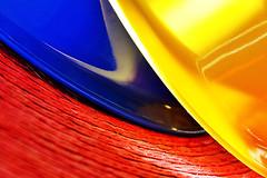 tones. (maotaola) Tags: flickrfriday primarycolors coloresprimarios tones redblueyellow abstractcomposition lightandshadows rojoazulamarillo textures bright curves abstracto catchycolors fullframe