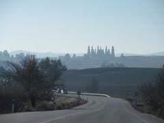 Highway approaching El Palmar de Troya, Spain (Paul McClure DC) Tags: elpalmardetroya utrera spain andalusia dec2016 españa andalucía scenery church cathedral