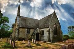 St Helen, Folksworth, Cambridgeshire (Brokentaco) Tags: gwuk cambridgeshire church village england eastanglia uk unitedkingdom parish fens medieval cambs churches dappro photopainting
