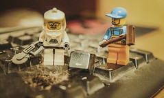 Uhhh... Long Time Nobody Cleaned (mikhailkorzhalov) Tags: lego miniature toy home canon sigma minifigures 30mm closeup keyboard constructor legominifigures humor story