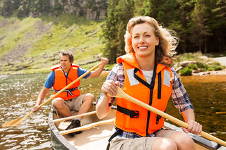 Couple On Canoe Trip