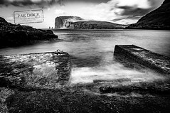 The Giant and the Witch - Faroe Islands (@PAkDocK / www.pakdock.com) Tags: 2016 faroe landscape pakdock travel sea nature island clouds cloudscape ocean waves white pier sand black seascape witch bnw islands panoramic blackandwhite outdoors landmark longexposure giant adventure voigtlander wanderlust tjornuvik beach grass seashore blanco y negro long exposure hoya filter sony a6000 monochrome outdoor cinematic water
