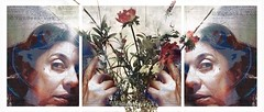 Can You Be an Enchanting Gardener Who Makes Everything Blossom? (Vanessa Vox) Tags: canyoubeanenchantinggardenerwhomakeseverythingblossom selfies selfportraits flowers flowering news newspaper collage vanessavox triptychs