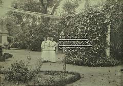 Groepsportret in tuin