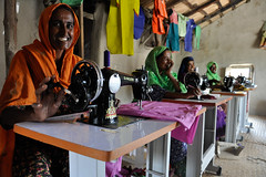 sewing and cutting training by IRP