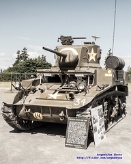 """""""Bleach Bypass"""" of 1942 M3A1 Stuart Light Tank (AvgeekJoe) Tags: tank hff m3a1 lighttank stuarttank m3a1stuart m3a1stuartlighttank historicflightfoundation"""