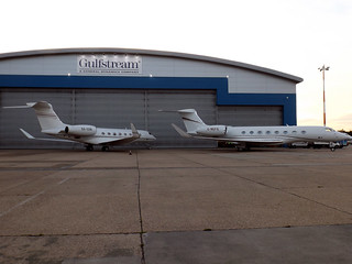 SX-GSB and G-REFO Gulfstream 650s Luton 27-06-15