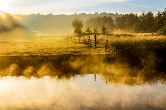 Dreamland (River Landscape) (uw67) Tags: nature water up fog river landscape gate wasser mood nebel natur netherland zaun fluss fens hdr achterhoek issel gatter ijsel flusslandschaft uwepotthoff enkbergen