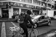 Santiago de Chile. (Alejandro Bonilla) Tags: chile street city santiago urban bw white black monocromo manuel venegas monocromatico