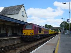 67008 Gillingham Dorset (relex109.com) Tags: england test west train 1 rear platform rail class line number dorset network 67 stands measurement gillingham ews 67008 liveried