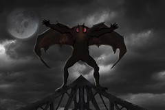 Mothman (mysteries illustrated) Tags: johnkeel westvirginia pointpleasant mothman metal road bridge structure superstructure rivets rivvets civilengineering