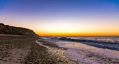 Dawn (Anthony White) Tags: bournemouth england unitedkingdom gb coast blue winter orange nature natur ky nopeople dorset art light ocean sea