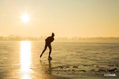 Finally winter! (JJBosma01) Tags: nannewiid oudehaske schaatsen skating ijs ice tegenlicht licht sunrise zonsopgang golden hour netherlands friesland fryslan canon5dmarkiii wwwjeltebosmafotografienl
