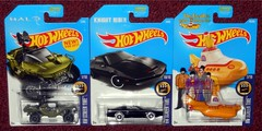 Mattel - Hot Wheels Screen Time (Darth Ray) Tags: mattel hot wheels hw screen time halo unsc warthog knight rider kitt the beatles yellow submarine