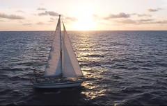 Sailing the Wrong Way (worlogha) Tags: sailing sail sailboat sailingboat silouette wind waves windforce ocean boat beautifulsunset sunset sails caribbean