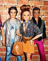 My Crew (Dia 777) Tags: barbie dolls dia777 barbiedolls kendolls ken barbiefashionistas kenfashionistas ryan teresa stylinstripes emeraldcheck dollyfriends