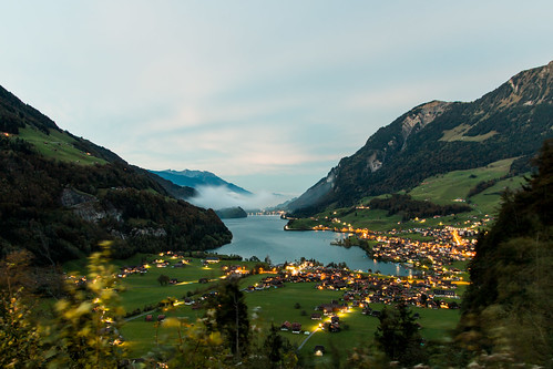 Lungern in the evening