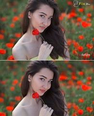 http://fixthephoto.com/ (Fixthephotocom) Tags: girl pretty look flowers photoshop photoretouching