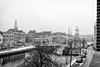 Overlooking the Spaarne - Haarlem, the Netherlands (Dutchflavour) Tags: haarlem bakenesserkerk netherlands nederland spaarne gravestenenbrug snow blackandwhite bw ships traditional classic city cityscape citylandscape citycentre architecture monochrome