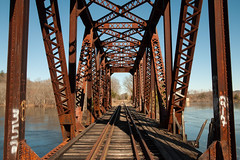 Retired Trestle (DjD-567) Tags: railroad concord nh trestle bridge contoocookriver rusty old