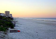 Shores Sunset (Chris C. Crowley) Tags: shoressunset ponceinletflorida beach ocean atlanticocean sea shoreline sand dunes beachwalkway cooler condos buildings pier glow sky scenic landscape seascape outdoors nature