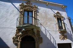 IMG_9223 - barocco siciliano (molovate) Tags: barocco siciliano plateresco spagnolo tafme erice trapani balcone finestra window volate luce azzurro sicilia restauro canon eos 350d digital inverno marzo rococò