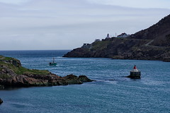 St. John's, Newfoundland (Scene Here) Tags: ocean lighthouse st rock port newfoundland boat fishing harbour outdoor g sony vessel atlantic maritime 28 narrow 70200 johns sonyalphadslr a77ii ilca77m2 a77m2