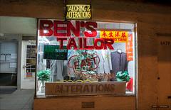 Tailoring & Alterations (Clayton Perry Photoworks) Tags: street signs canada night vancouver lights spring bc bens explorebc explorecanada