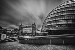 Power crazed (Matt S Dawson) Tags: bridge bw white black london tower monochrome thames architecture long exposure mayor offices
