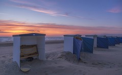 One fine eve in June (dorrisd) Tags: sunset sea summer sky beach netherlands colors dutch june strand seashells coast seaside zonsondergang sand colorful waves mood moody nederland footprints peaceful tranquility row northsea zomer romantic serene katwijk lucht 1320 nederlands deserted tranquil deckchairs windbreakers cabins linedup kust voetstappen zuidholland kleuren gradiation stil romantisch sfeervol southholland iso500 canonef24105mmf4lisusm 240mm bej rustgevend badhokjes 40 canoneos6d gradatie mienekeandeweg