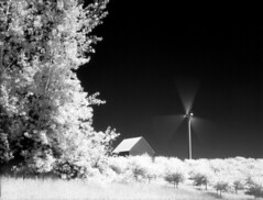 Ludington Michigan, Efke IR-820 Aura, developed in D-76 (Bronica John) Tags: longexposure sky blackandwhite white black film windmill mi barn self long exposure wind kodak michigan farm d76 filter bronica infrared epson developed aura turbine windturbine ludington selfdeveloped efke blacksky 89b etrsi v500 infraredfilm kodakd76 ludingtonmichigan ludingtonmi ir820 efkeir820 film:iso=100 89bfilter efkeir820aura developer:brand=kodak developer:name=kodakd76 film:brand=adoxefke film:name=adoxefkeir820100 adoxefkeir820100 filmdev:recipe=10155 89binfraredfilter