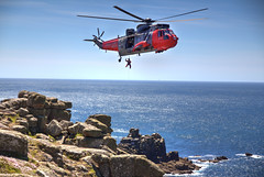 Lands End Royal Navy Helicopter (2) (Rachael Webster UK) Tags: holiday colour june canon high rocks cornwall break dynamic landmark tourist helicopter landsend range hdr attraction subtle royalnavy 2015 650d subtlehdr canon650d june2015